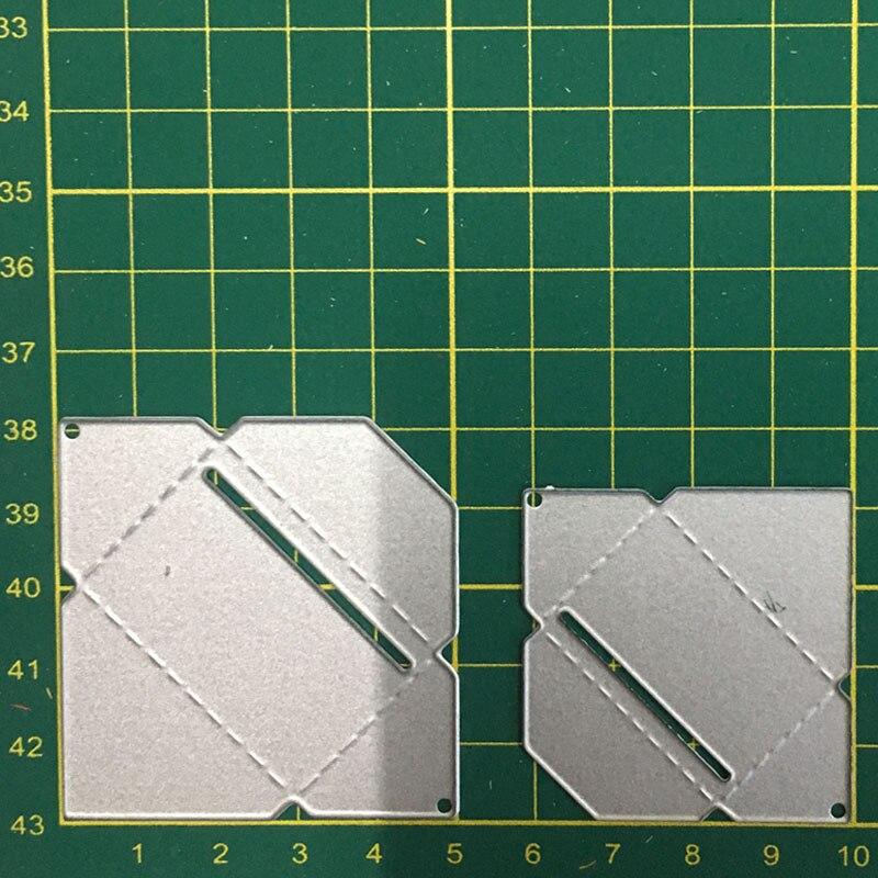 2 pcs envelope frame metal dies cutting decoration Embossing Scrapbooking Steel Craft Dies cuts Stamp paper Stencil in Cutting Dies from Home Garden