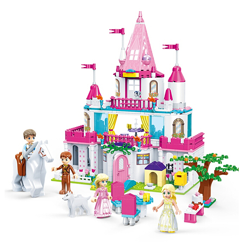 GUDI Friends Series Princess Castle Building Blocks Sets Bricks Girl Enlighten Model Kids Classic Toys Gift Compatible Legoings