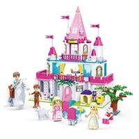 GUDI Friends Series Princess Castle Building Blocks Sets Bricks Girl Enlighten Model Kids Classic Toys Gift Compatible Legoings