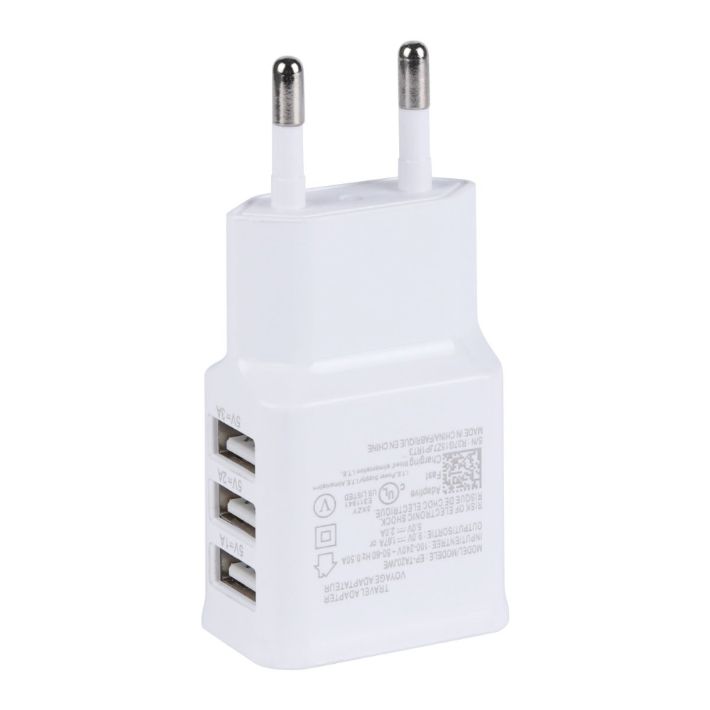 Universal Euro EU <font><b>Plug</b></font> 3 Ports AC Power USB Wall <font><b>Travel</b></font> Charger <font><b>Adapter</b></font> for Iphone 6 6S for <font><b>Samsung</b></font> IOS Android Smartphone UM image