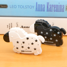 Coloffice Kawaii Cute Black White Horse Ribbon Corrector Correction Fluid Stationery