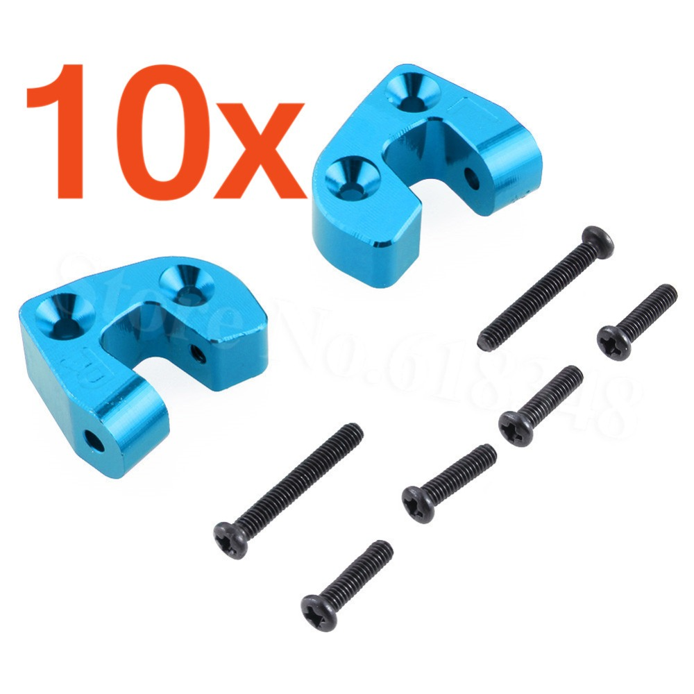 10Pairs Aluminum Rear Supenstion Arm Mount Base (L/R) 0042 For FY-03 WLtoys 12428 12423 1/12 RC Car Upgrade Parts