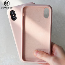 Lovebay Silicone Phone Case For iPhone X 7 8 6 6S Plus Soft TPU Candy Color Shockproof Case For iPhone XS XR Xs Max 11 Pro Cover(China)
