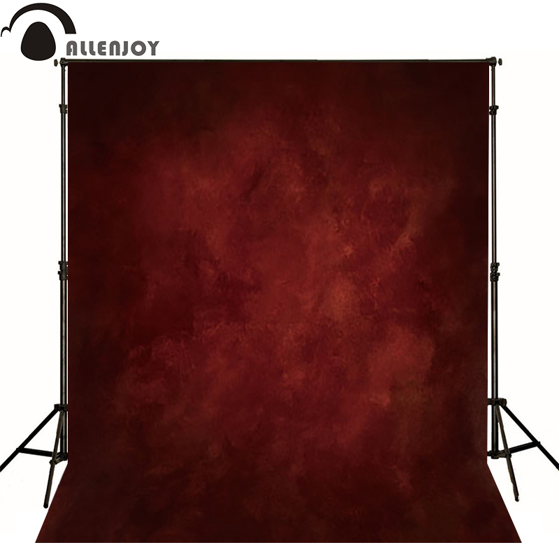 Allenjoy Thin Vinyl fotografie din stofa Backdrop roșu Context pentru Studio Photo Pure Color photocall Background nunta MH-052