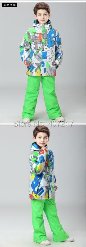 d07579a46 Boys ski jacket children s snowboarding jacket male child multicolor ...