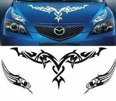 D-350 Car Pull Floats Reflective Auto Body stickers cover mapping Teng Hood Cover Sports Car Stickers Cartoon Flame Stickers crystal reflective flame pattern car decorative stickers yellow pair