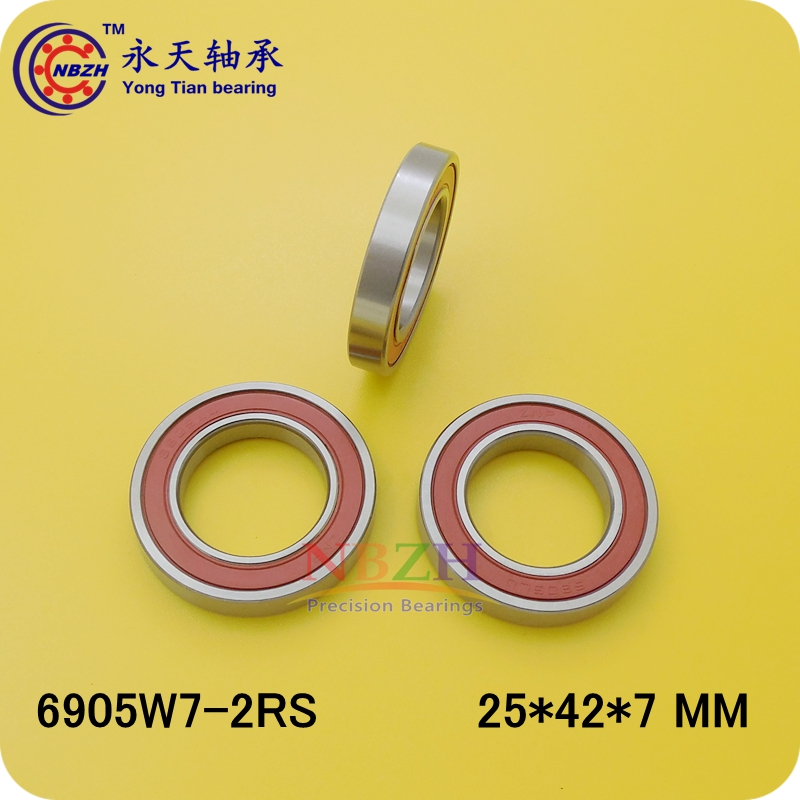 Non-standard thin wall bearing 6905W7 16905-2RS 6905-2RS-H7 width 7 25 * 42 * 7 MM 6700rs 6700 2rs 6700 2rs 6700 rs 61700 2rs 10x15x4mm thin section bearing