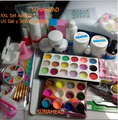 BEMLP Full Set Acrylic Powder UV Gel kit French Tips Brush Pen 36w UV Lamp Nail Art DIY Manicure Cleanser Plus kit