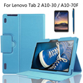 For Lenovo Tab 2 X30F/A10-30/A10-70F/L High Qualtiy Business With Keyboard Station Cover Stand PU Leather Case + Film + Stylus