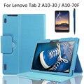 Para lenovo tab 2 x30f/a10-30/a10-70f/l de alta calidad de dicha cantidad de negocios con la estación de teclado cubierta del soporte de la pu funda de cuero + film + stylus