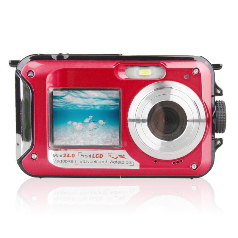 Enfants jeu étanche 24MP Double écran caméra sous-marine enfants CMOS capteur Mini caméra jouets avec accessoires Photo carte TF 32 GB - 3