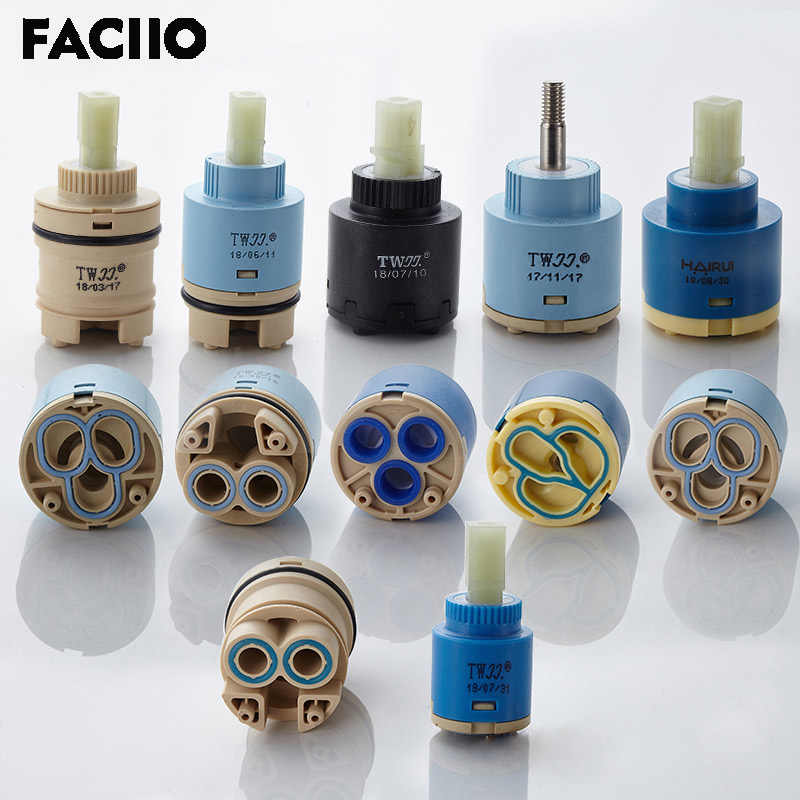 Faciio 1pc 35mm 40mm Watersaving Replacement Ceramic Spool Water Mixer Tap Faucet Cartridge Kitchen Bathroom Faucet Replace Part Faucet Cartridges Aliexpress