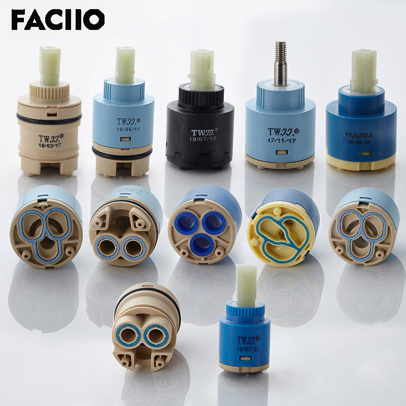 FACIIO 1PC 35mm/40mm Watersaving Replacement Ceramic Spool Water Mixer Tap Faucet Cartridge Kitchen Bathroom Faucet Replace Part