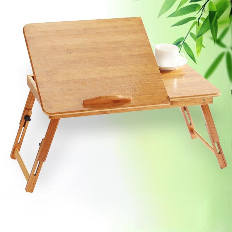 Бамбук Тетрадь компьютер ленивый кровать стол складной стол Размеры нет.