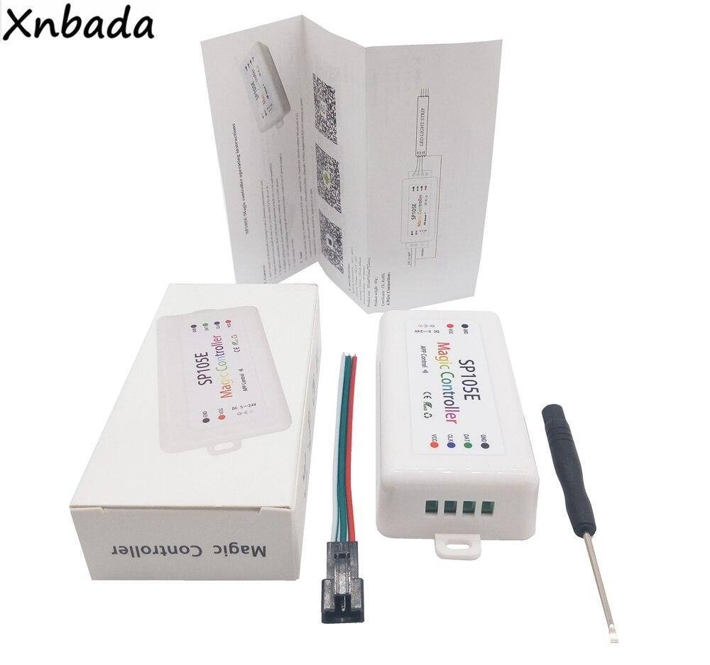 Licht & Beleuchtung Sp105e Led-streifen Licht Bluetooth Rgb Controller Ws2801 Ws2811 Ws2812b Sk6812 Apa102 Bunte Led Controller Dc5-24v Beleuchtung Zubehör