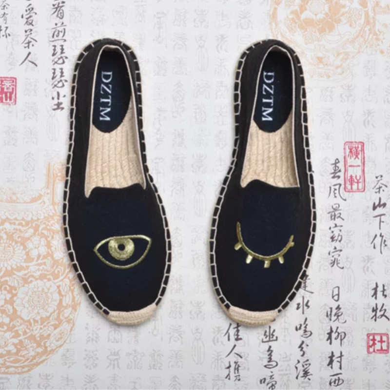 2017 Pure Hand-made Canvas Espadrille Women Ballet Flats Top Quality Sewing Shoes Linen Footwear Comfort Zapatos Mujer консилер holika holika cover