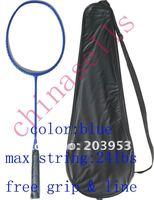 Full Carbon Badminton Racket Racquets No Logo New 4 Colour 24Lbs Free 1 Sweatband 1 Line