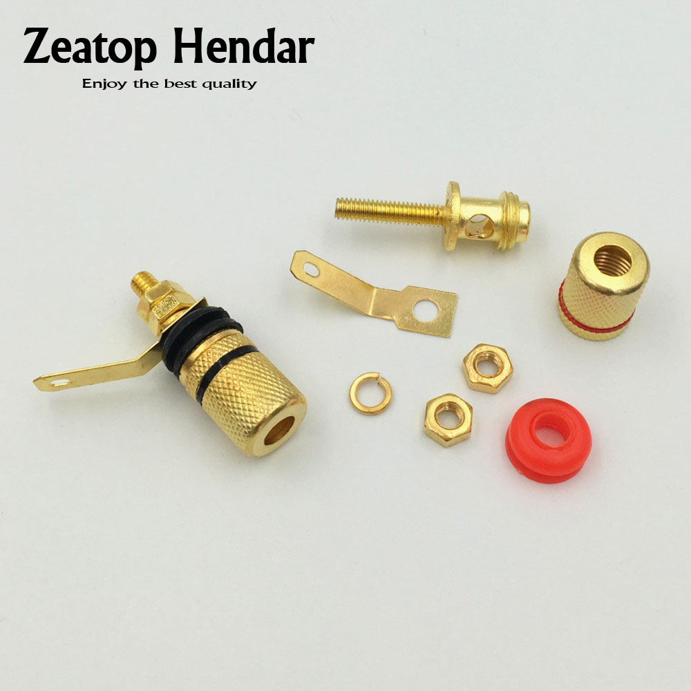 100 piezas de oro plateado tono terminales del amplificador altavoz vinculante Post Banana conector de Audio Jack de 4mm-in Conectores from Luces e iluminación on AliExpress - 11.11_Double 11_Singles' Day 1