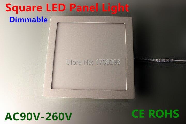 Wholesale 10PCS Square LED Panel Light 9W12W15W25W Dimmable, Flush mounting,white/Natural White/warm white AC110V-240V CE ROHS