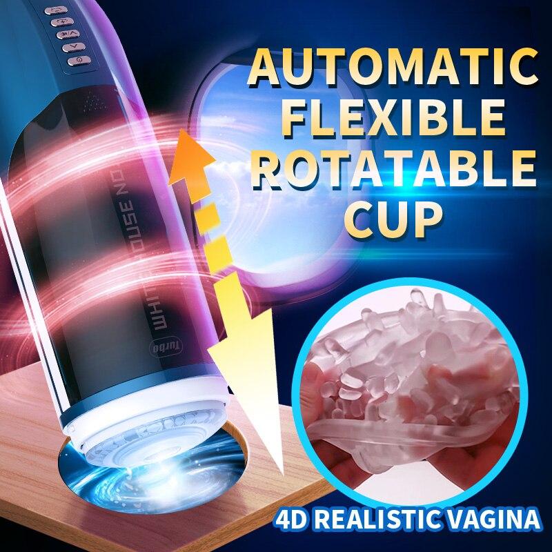 Male Masturbator Automatic Rotation Telescopic Artificial Intelligent Voice Interaction Sex Machine Adult Sex Toys for Men