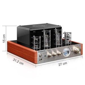 Image 3 - Nobsound CS1020 Wood 100W 1 Pair 6.5 inches Bookshelf Speakers 2.0 HiFi Column Sound Bluetooth Vacuum Tube Integrated Amplifier