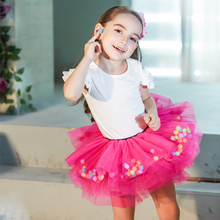 Buenos Ninos Baby Girls Short Tutu Skirt Ballet Dance Mini Pettiskirt Princess Petticoat Tulle Balls 1-6T Fluffy 8 Layers