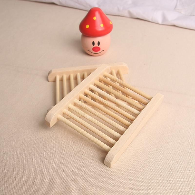 2019 Wooden Natural Bamboo Soap Dish Tray Holder Storage Soap Rack Plate Box For Bath Shower Plate Bathroom 78