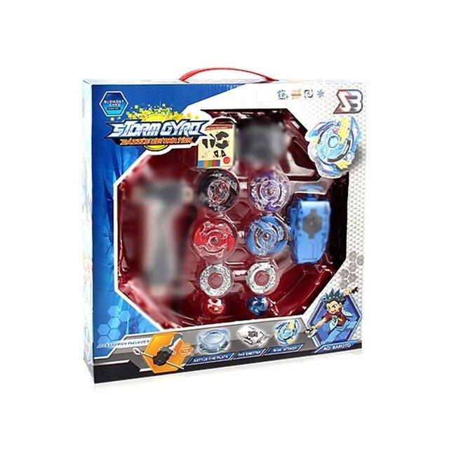 Boîte colorée Beyblade éclaté à vendre métal Fusion 4D BB807D B66 B48 B34 B35 B59 B41 lanceur haut ensemble jouets de jeu pour enfants