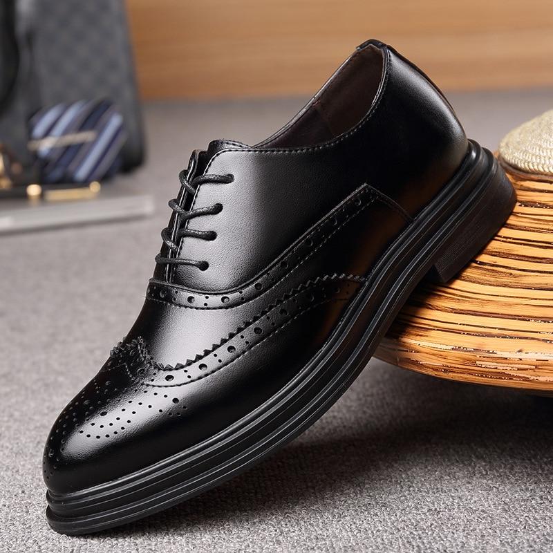 Homens Moda Casuais Tendência resistant Esculpida Direto Fábrica Wear Totem Pano Bloqueio Respirável Vestido De Negócios Black Preto Sapatos Da Nova pqRrw5qU
