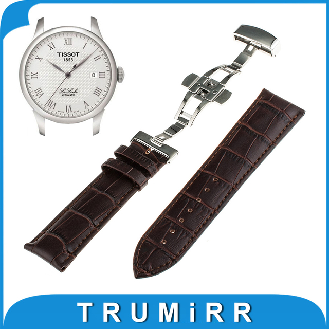1st Layer Calf Genuine Leather Watch Band for Tissot 1853 Wrist Strap Butterfly Buckle Bracelet 16mm 18mm 20mm 22mm 24mm + Tools