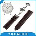 Primeira Camada de Genuíno Couro De Bezerro Watch Band para Tissot 1853 Pulso cinta Borboleta Fivela Pulseira 16mm 18mm 20mm 22mm 24mm + Ferramentas
