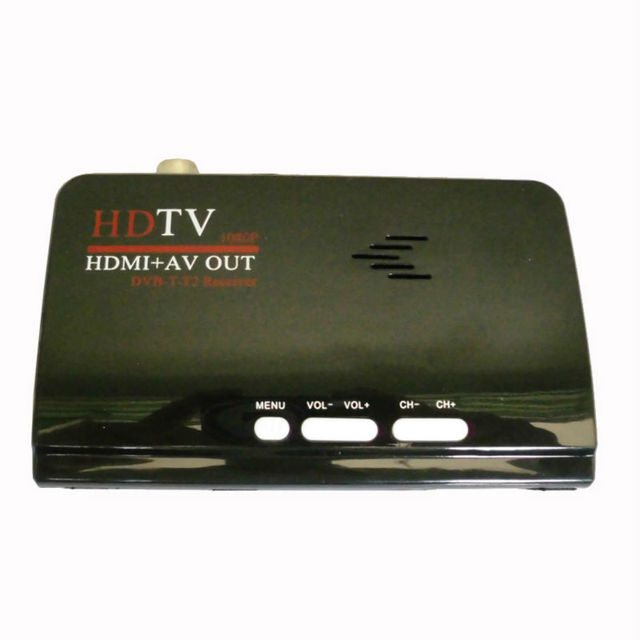 1080P Full HD dvb-t2 dvb-t usb HDMI TV Receiver Digital Terrestrial HDMI/AV CVBS External Tv Tuner Converter for lcd monitor