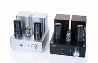 PA1502A Tube Headphone Amplifier HIFI EXQUIS 6n4 ( 12ax7 ) 6P6P( 6v6 ) lamp headset amps