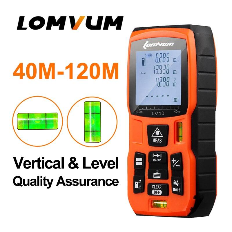 LOMVUM LV-5800 Handheld Laser Distance Meter level bubbles laser rangefinder