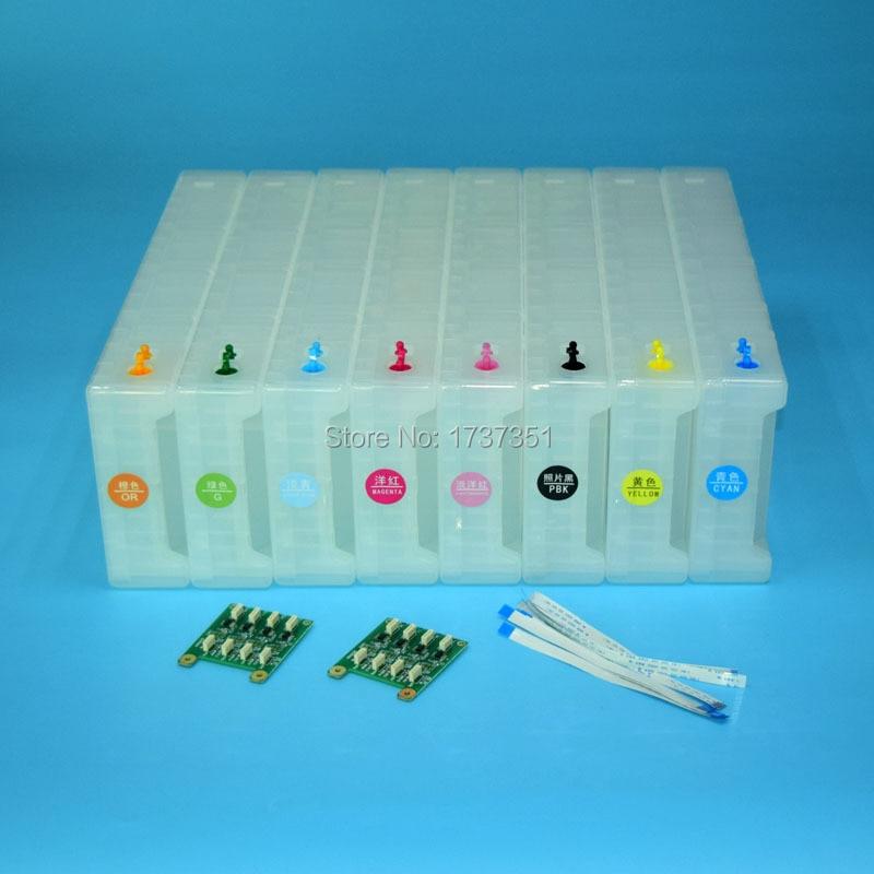 8 colore 1800 ml cartuccia di inchiostro ricarica vuota con Chip di Decodifica per Epson Stylus Pro GS6000 stampante