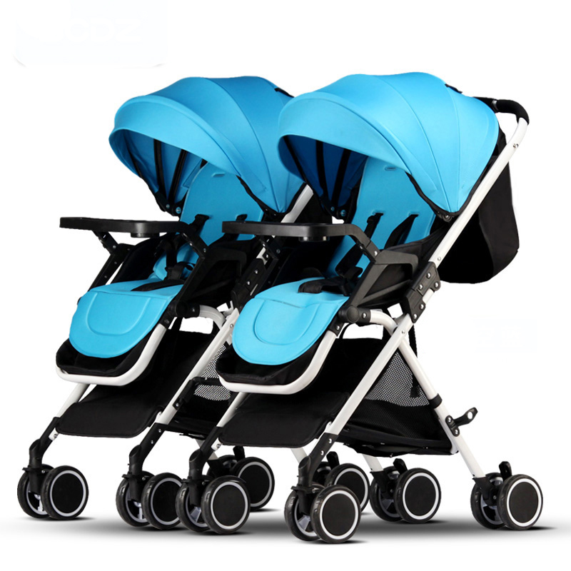 Bcdz High Landscape Twin Baby Stroller Can Sit, Lie Down, Light, Summer Folding, Carriage, Carrier baibos bai twin landscape baby stroller double front and rear can lie sit