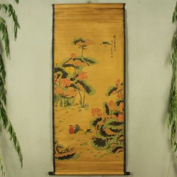 China Antique collection the Mandarin Duck diagram