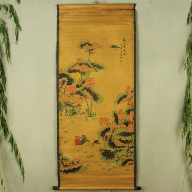 Collection Antique de chine le diagramme de canard mandarine