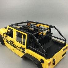 1 takım Wrangler Cabrio Sert Kabuk Çerçeve 313mm Tekerlek Mesafe Kabuk RC Arabalar için DIY Yedek Parça