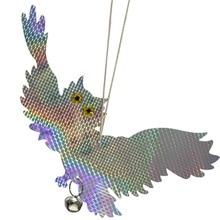 New Garden Laser Reflective Fake Owl Supplies Hanging Reflective Owl Scarecrow Scares Bird Pigeons Woodpecker Repellent Birds