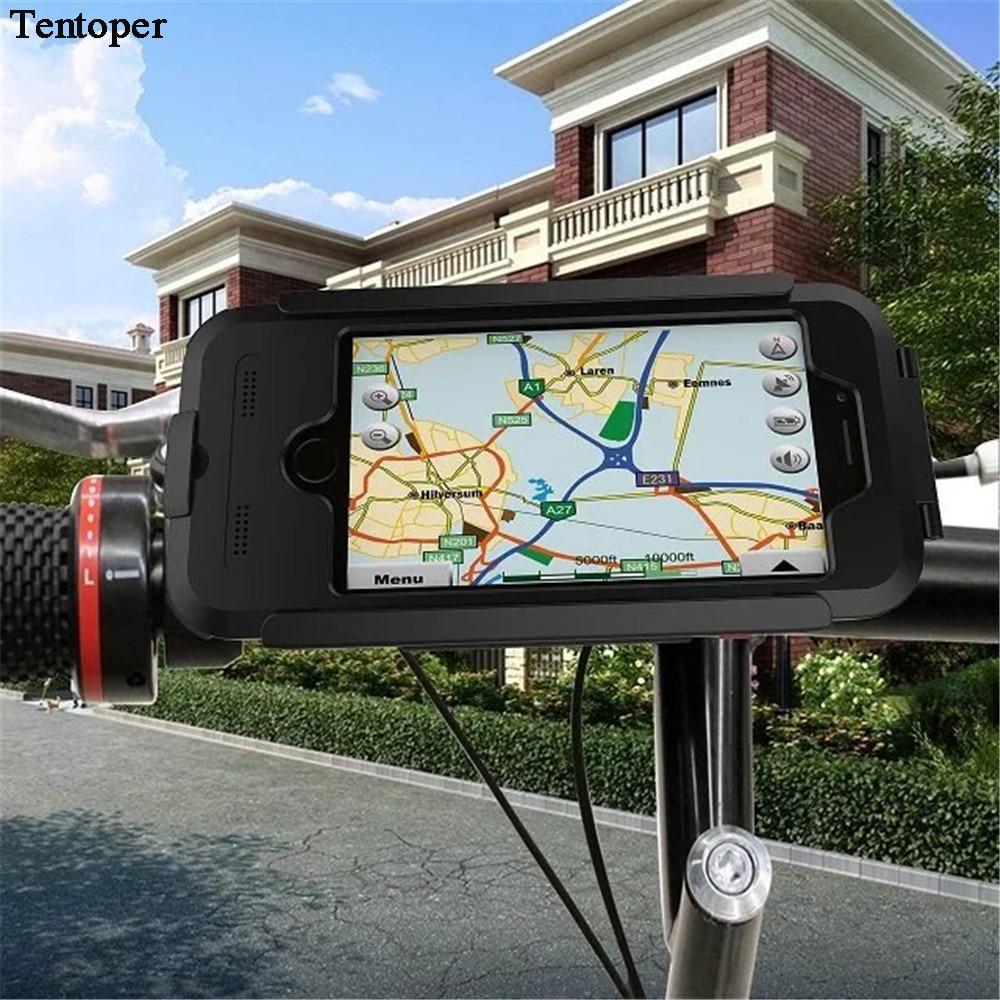 imágenes para Manillar de La Bicicleta Bicicleta Titular de Casos Para el iphone 6 6 S Plus 5S SE Fija de Navegación GPS Montar A Prueba de agua Cubierta de la Bolsa Para el iphone 6 s