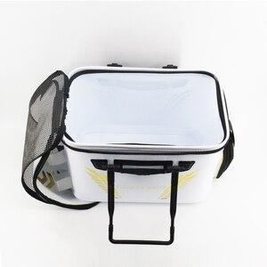Image 5 - 2018 New DAIWA DAWA Bait Bucket Light Outdoor Multi functional Bait Box Bait Bag Portable Outdoor Fishing Pail 40CM 45CM