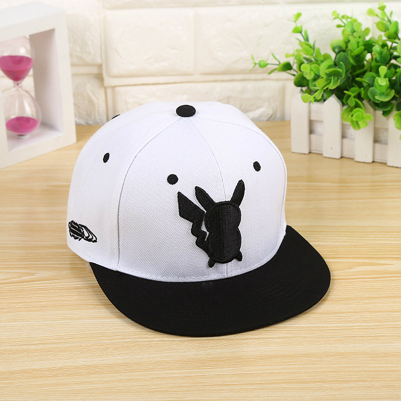 2017 New Adjustable Pokemon Hats Ash Ketchum Pikachu Baseball Caps For Women And Men Hip Hop Snapback Peaked Flat Fashion Hats anime pokemon go pikachu charmander cosplay baseball caps adults men and women cute hip hop hat swag snapback cap cooo coll