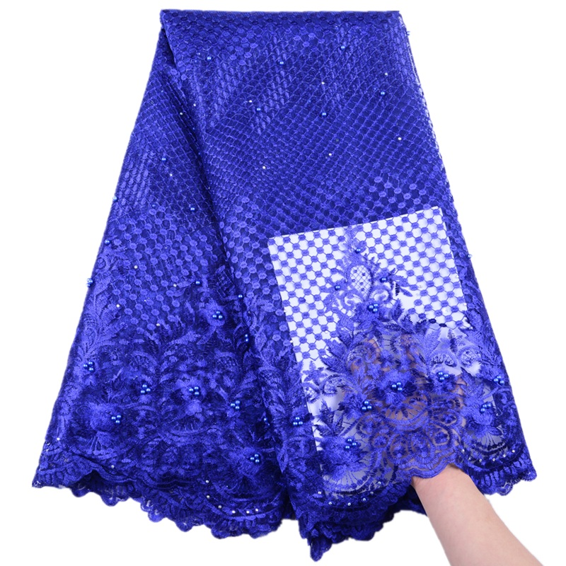 New Design African Net Lace Fabric High Quality French Lace Fabric With Stones Nigeria Lace Fabric