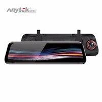 Anytek T11+ 9.66 Inch Streaming Media FHD 1080P Dual Lens Car DVR Rearview Mirror DVRs Parking Monitoring ADAS Dash Cam
