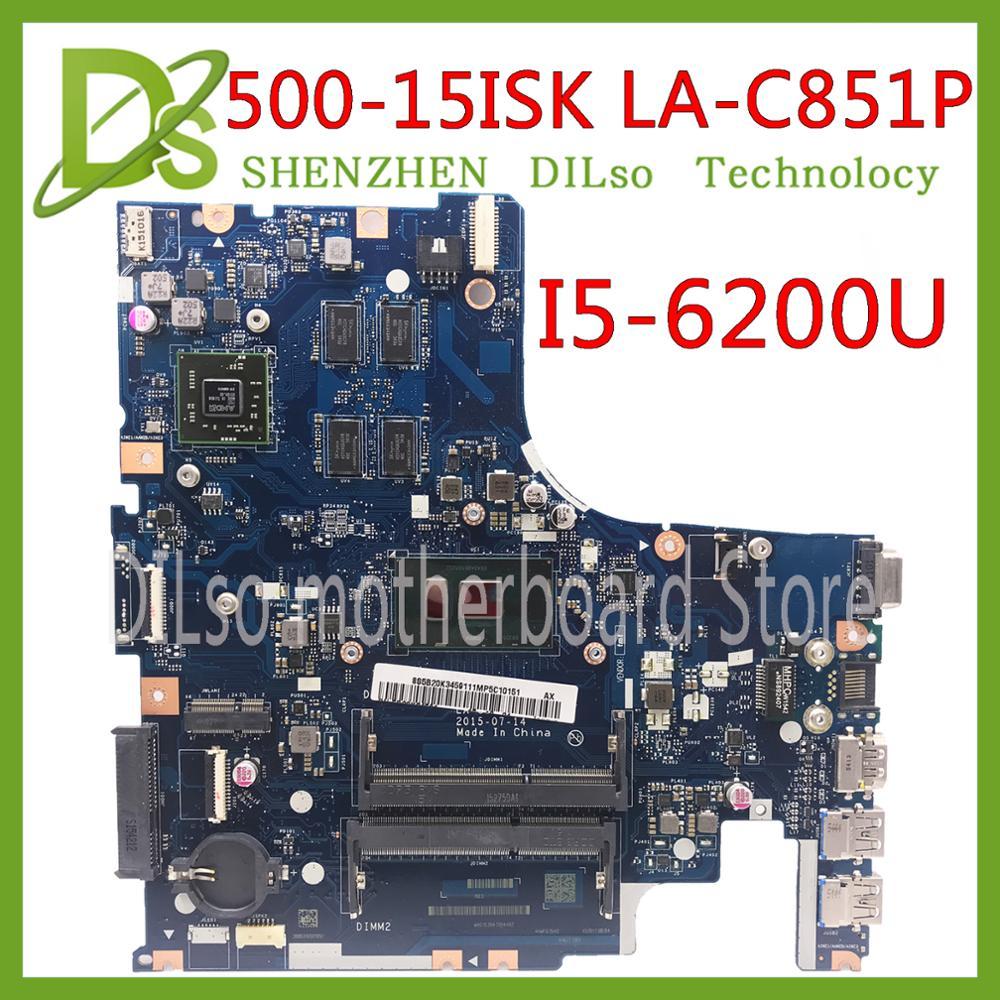 KEFU 500-15 LA-C851P Mainboard For Lenovo IdeaPad 500-15ISK Laptop Motherboard I5-6200U CPU R7 GPU Original 100% Tested