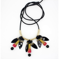 2015 New Fashion Chokers Bib Bubble Statement Necklace For Women Jewellery Acrylic Beaded Necklaces With Earrings