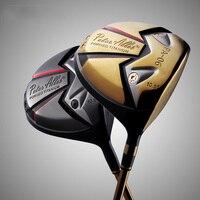 Man Fairway Woods #1 10.5 loft Golf Driver With Graphite Club Shaft Black Gold Golf Clubs