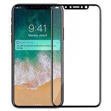 3D גבוהה אלומינה מזג זכוכית עבור iPhone X 9H מלא מסך כיסוי פיצוץ הוכחה מסך מגן סרט iPhone XS iPhoneX