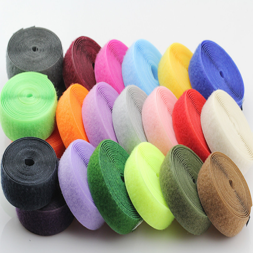 WIDE 2CM boob tape hook and loop fastener self adhesive magic sticker red white black pink green gray blue 2M/LOT